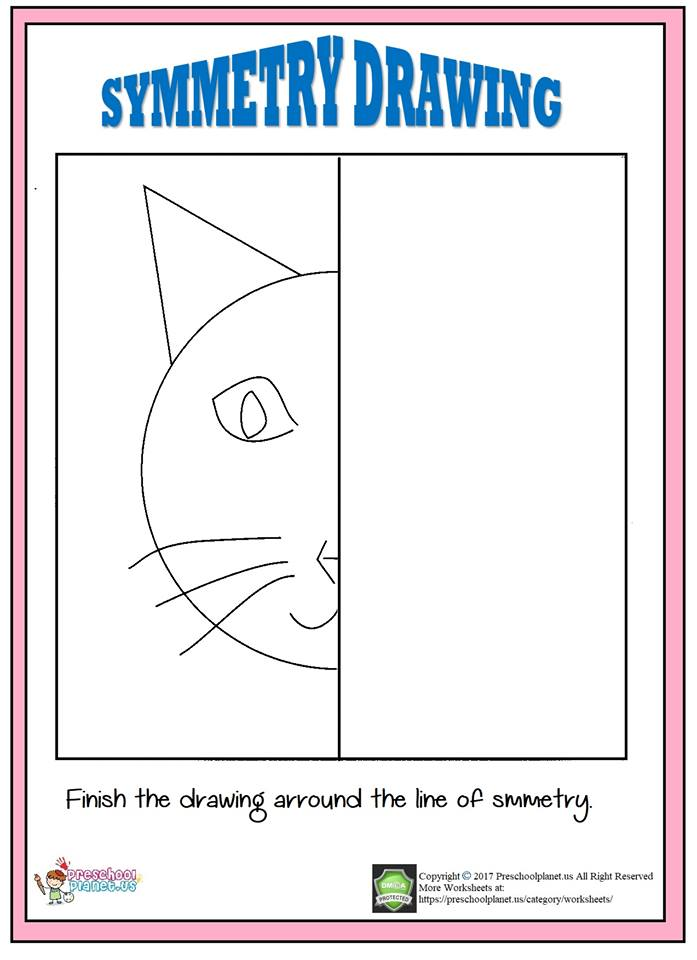 cat symmetry worksheet