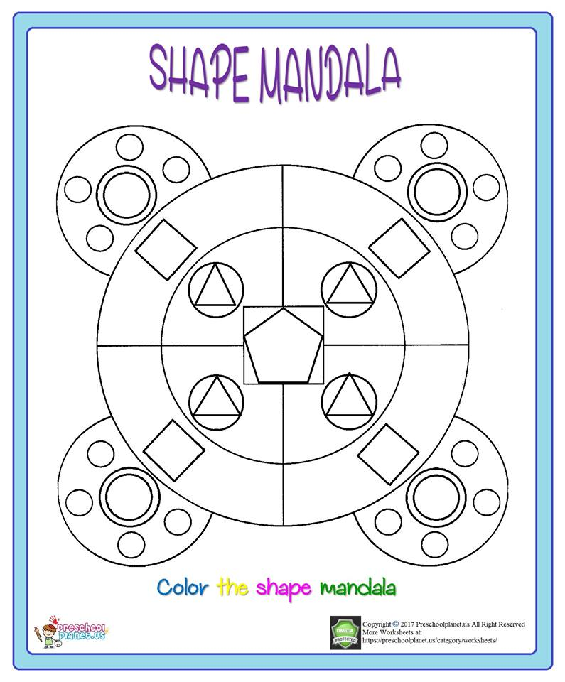 shape mandala coloring