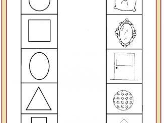 shape matching worksheet