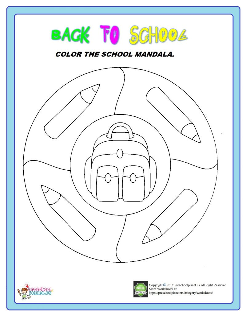 back to school mandala