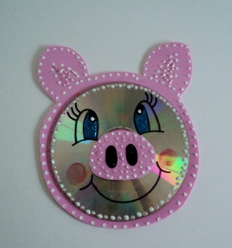 cd pig craft idea