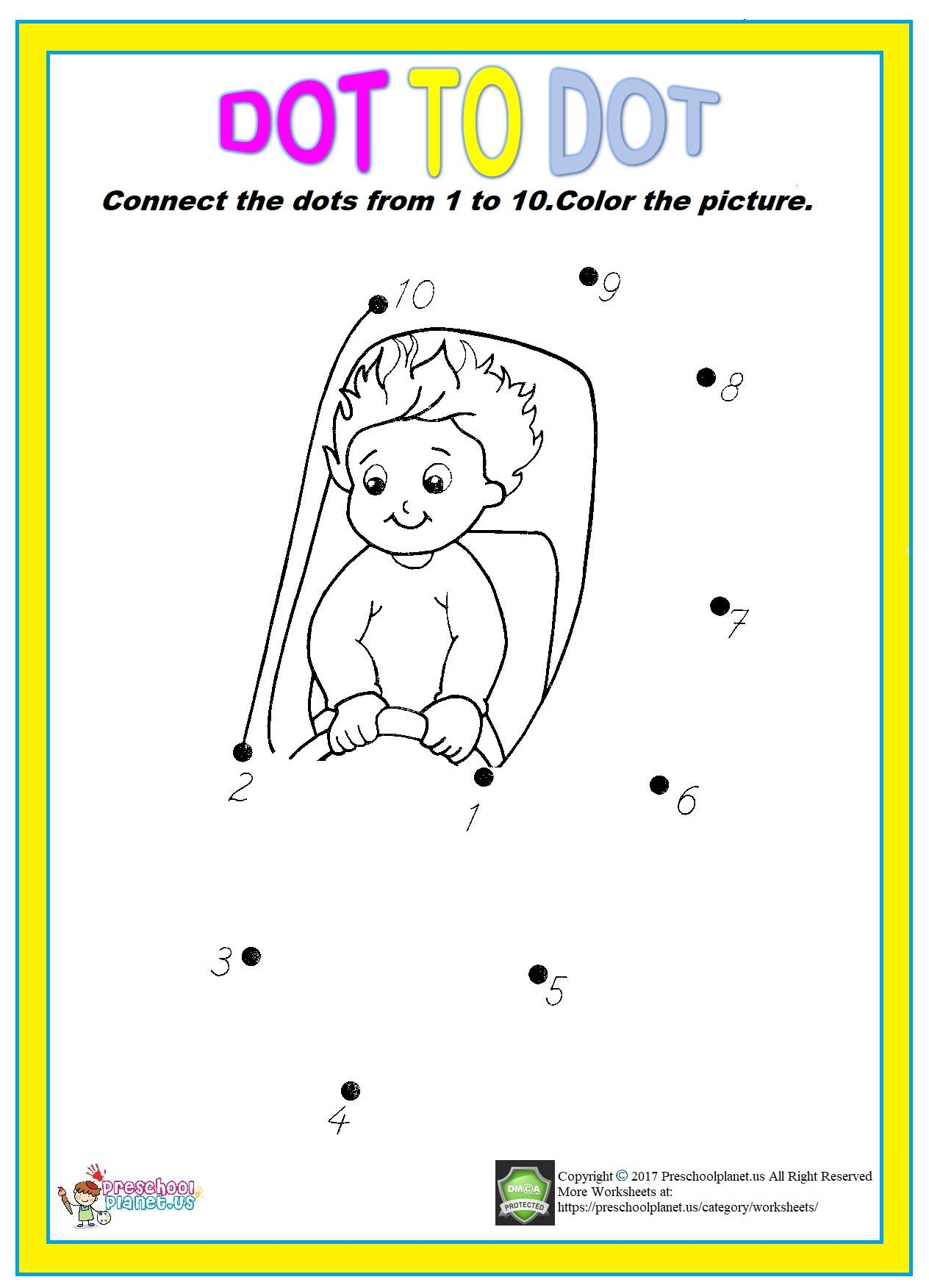 dot to dot worksheet