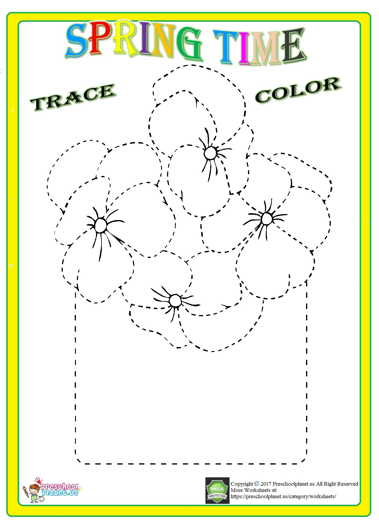 flower trace worksheet