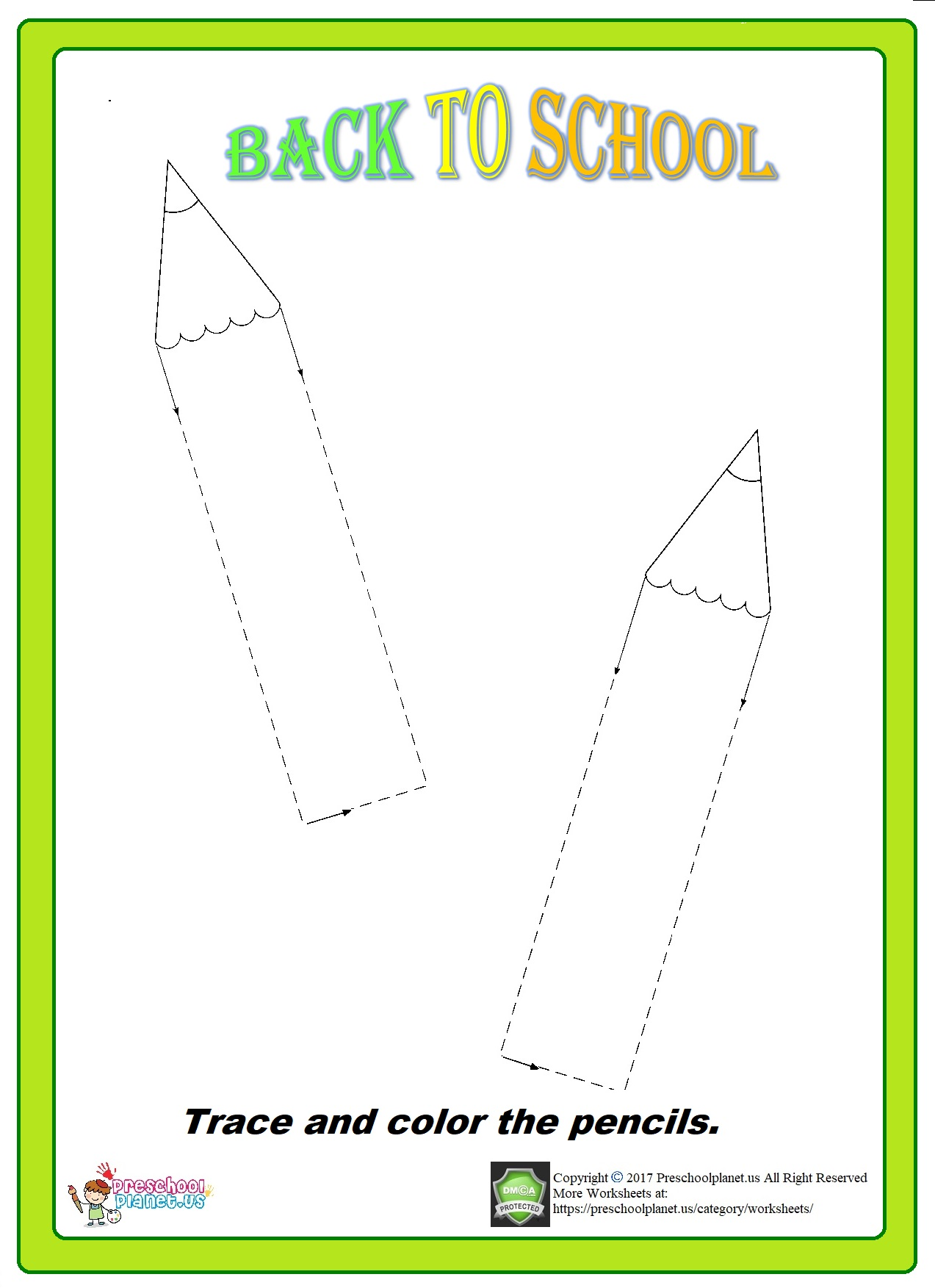 pencil trace worksheet