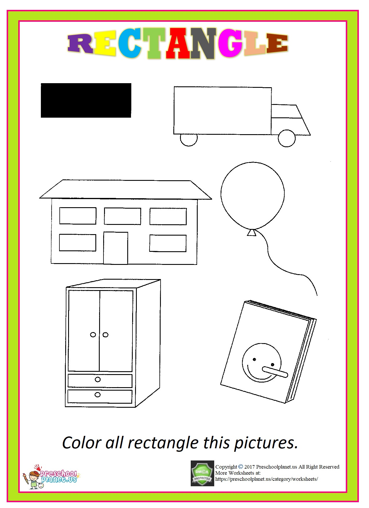 rectangle worksheet for kids