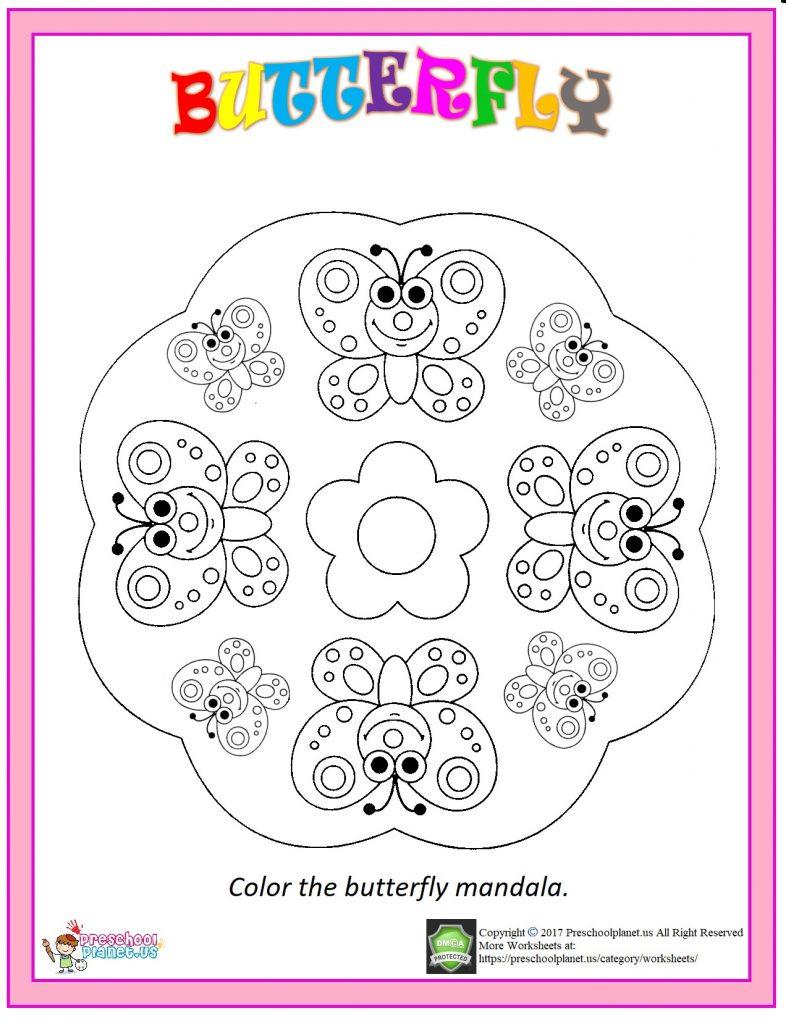spring mandala coloring