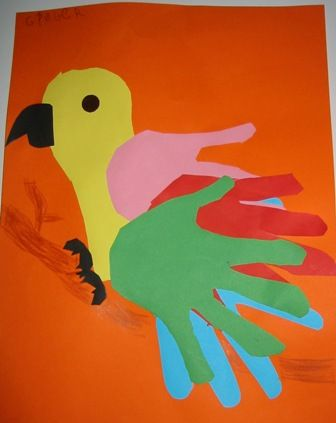 handprint-parrot-craft-idea-for-kids