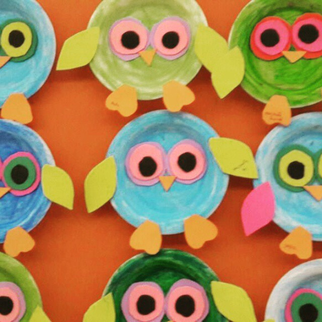 paper-plate-owl-craft-idea