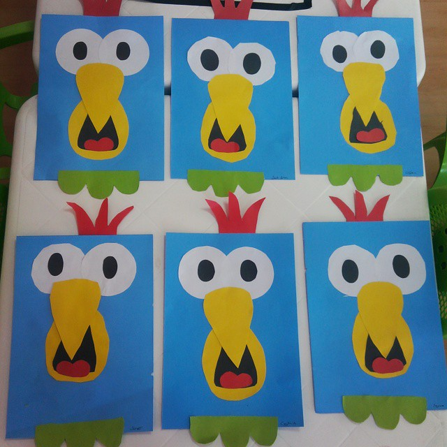 rectangle parrot craft idea