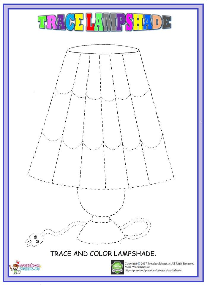 trace lampshade worksheet