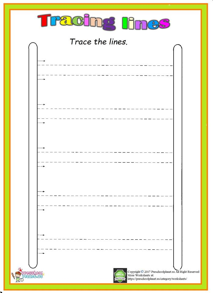 trace stair worksheet