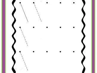 diagonal lines worksheet