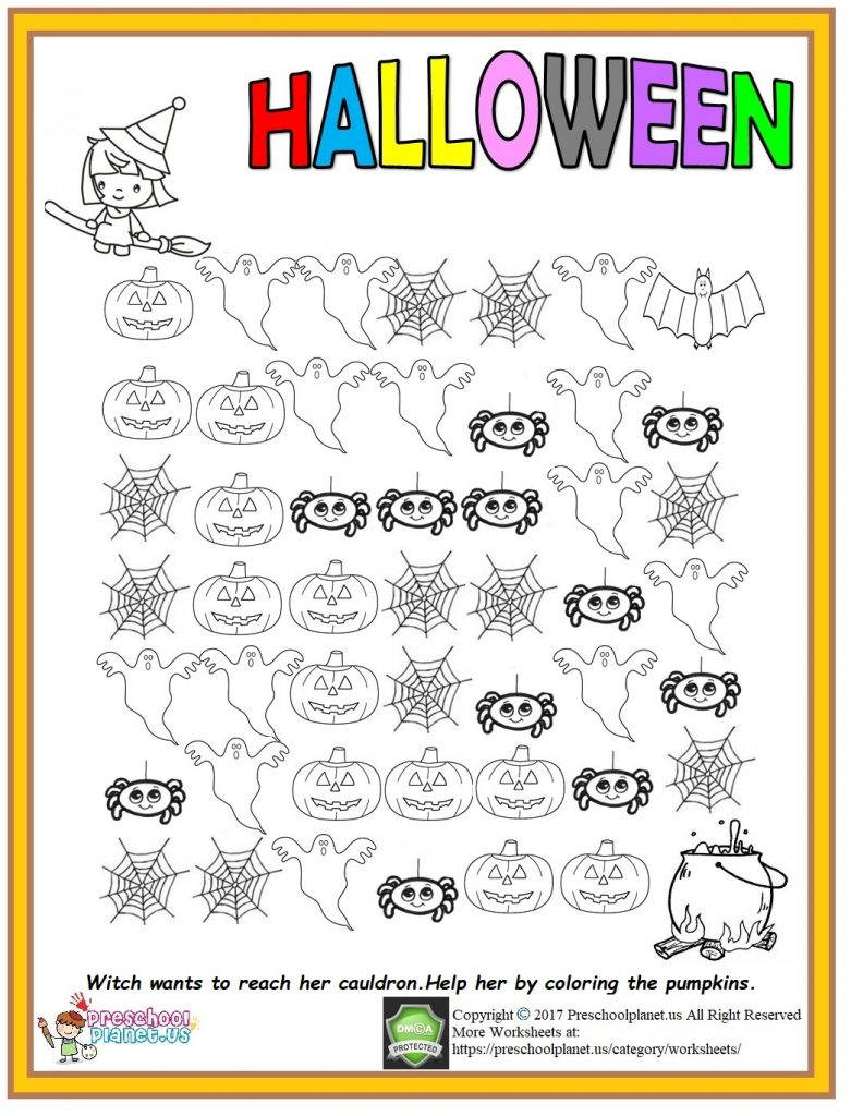 halloween worksheet for kids