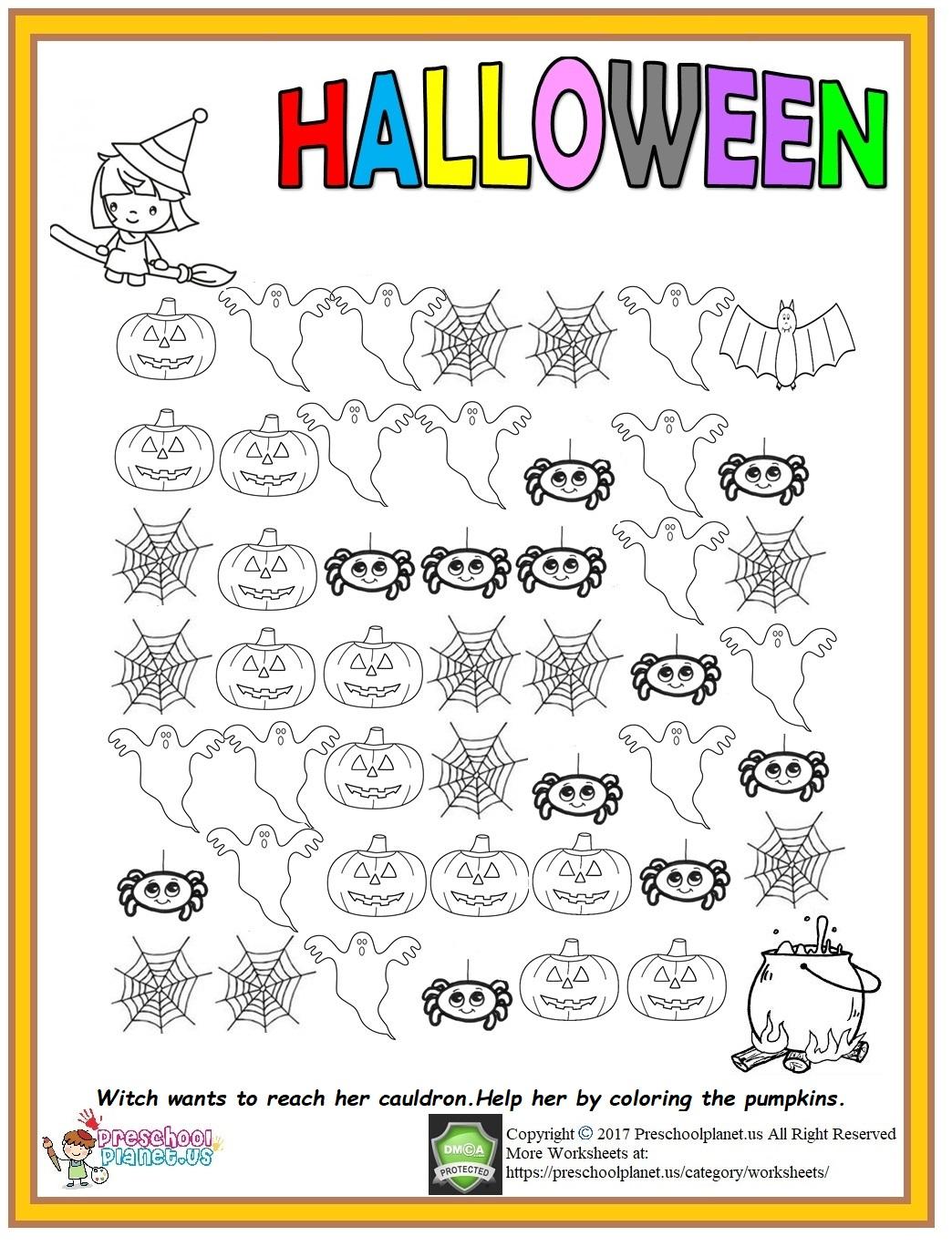 halloween worksheet for kids