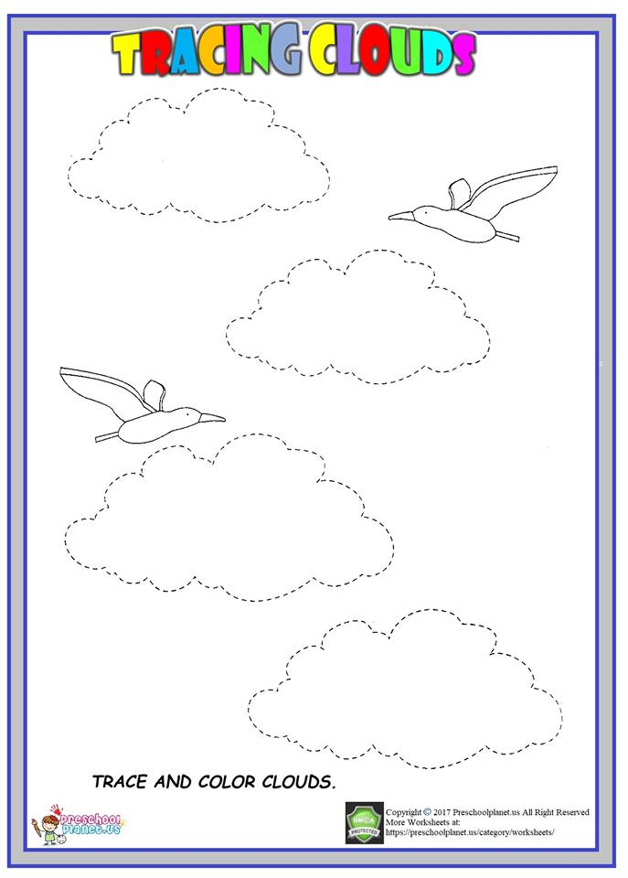 tracing cloud worksheet