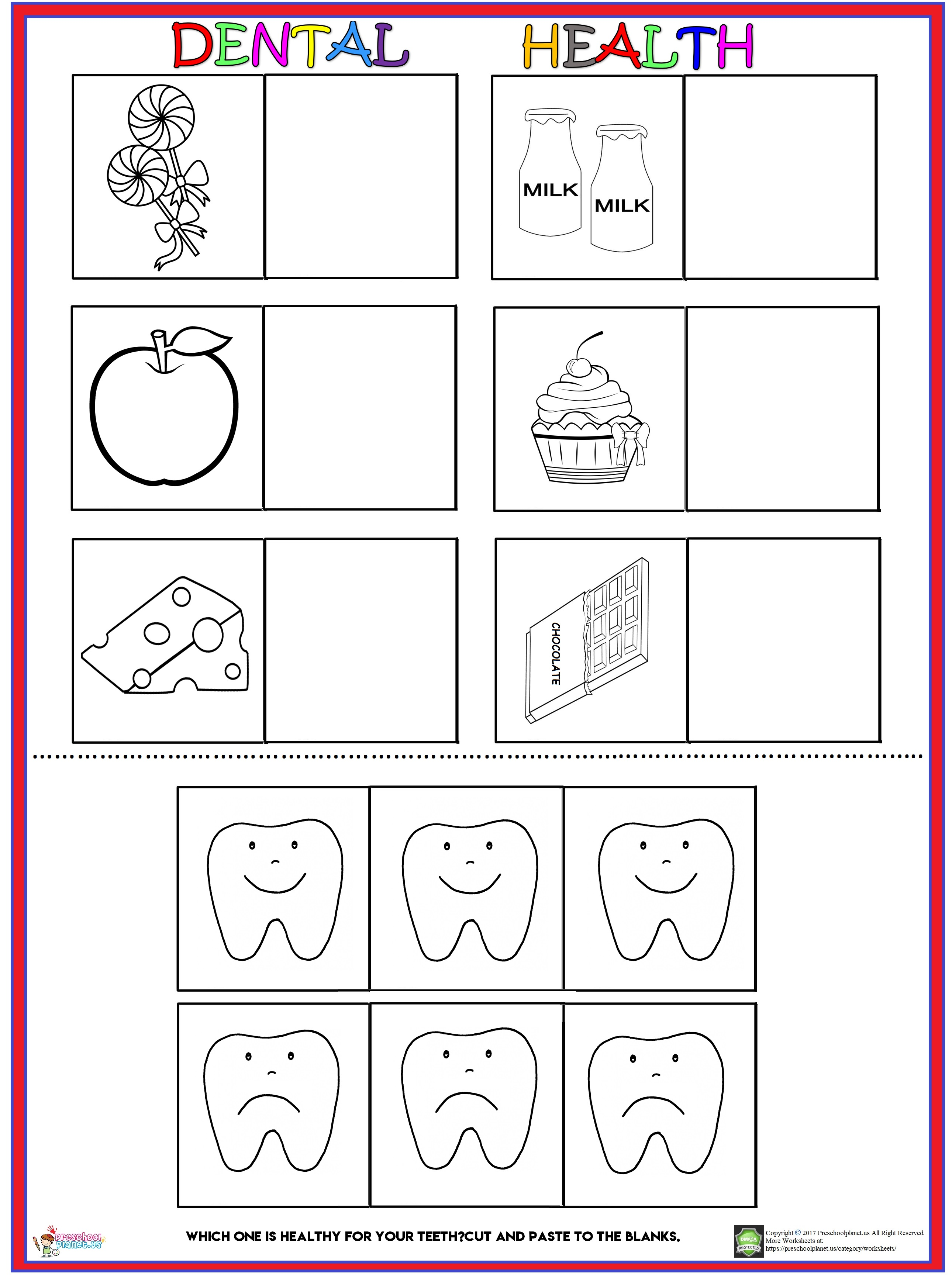 Dental Health worksheet