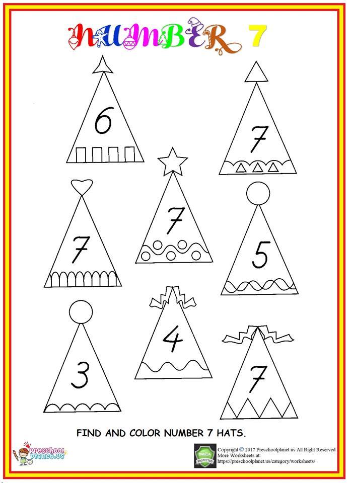find number 7 worksheet