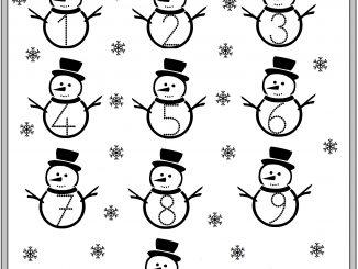 winter number worksheet