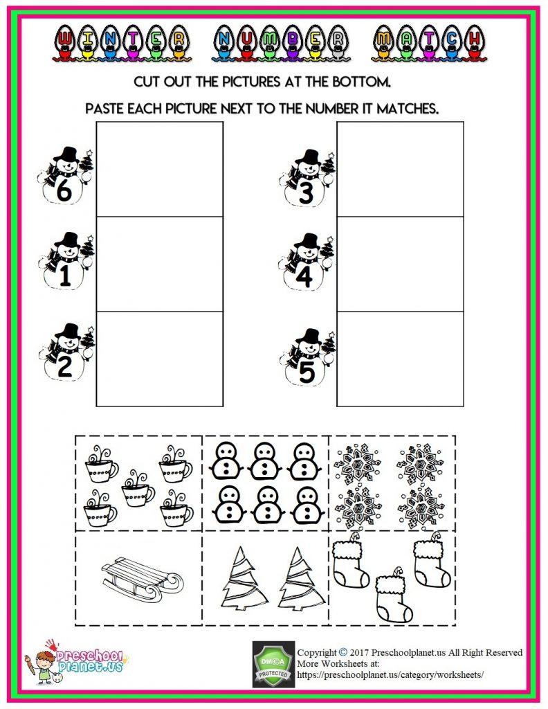 winter count number worksheet