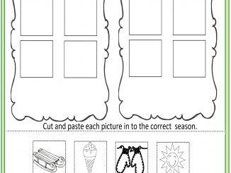 Cut And Paste Season Worksheet