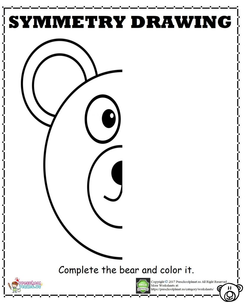 Bear Symmetry Worksheet
