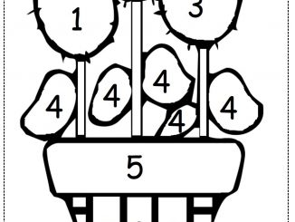 color by number flower worksheet