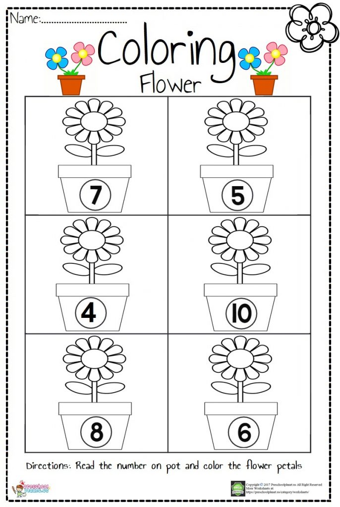 Color And Cut Worksheets For Kindergarten