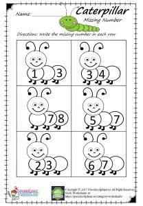 missing number worksheet pdf