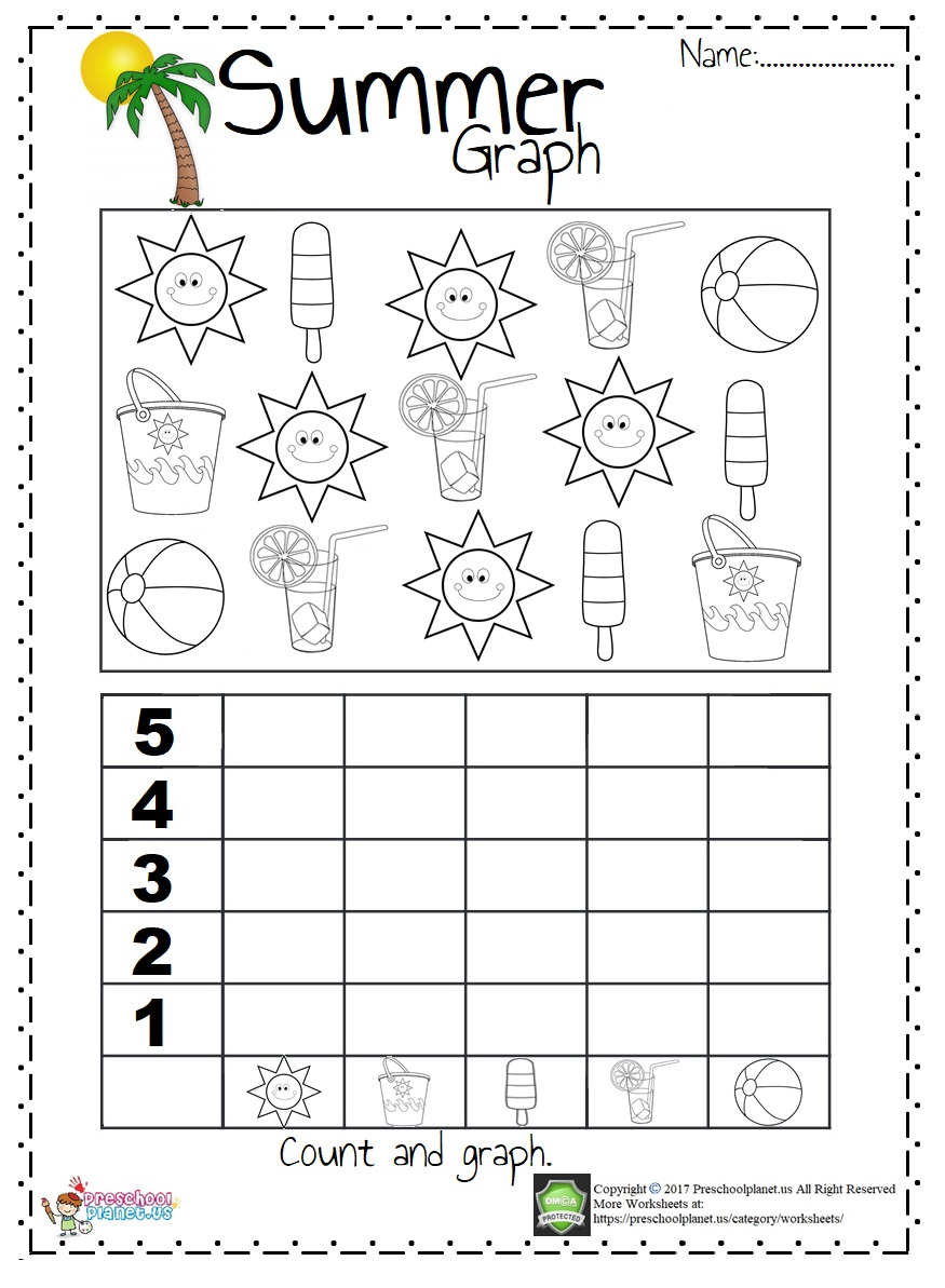 summer graph worksheet