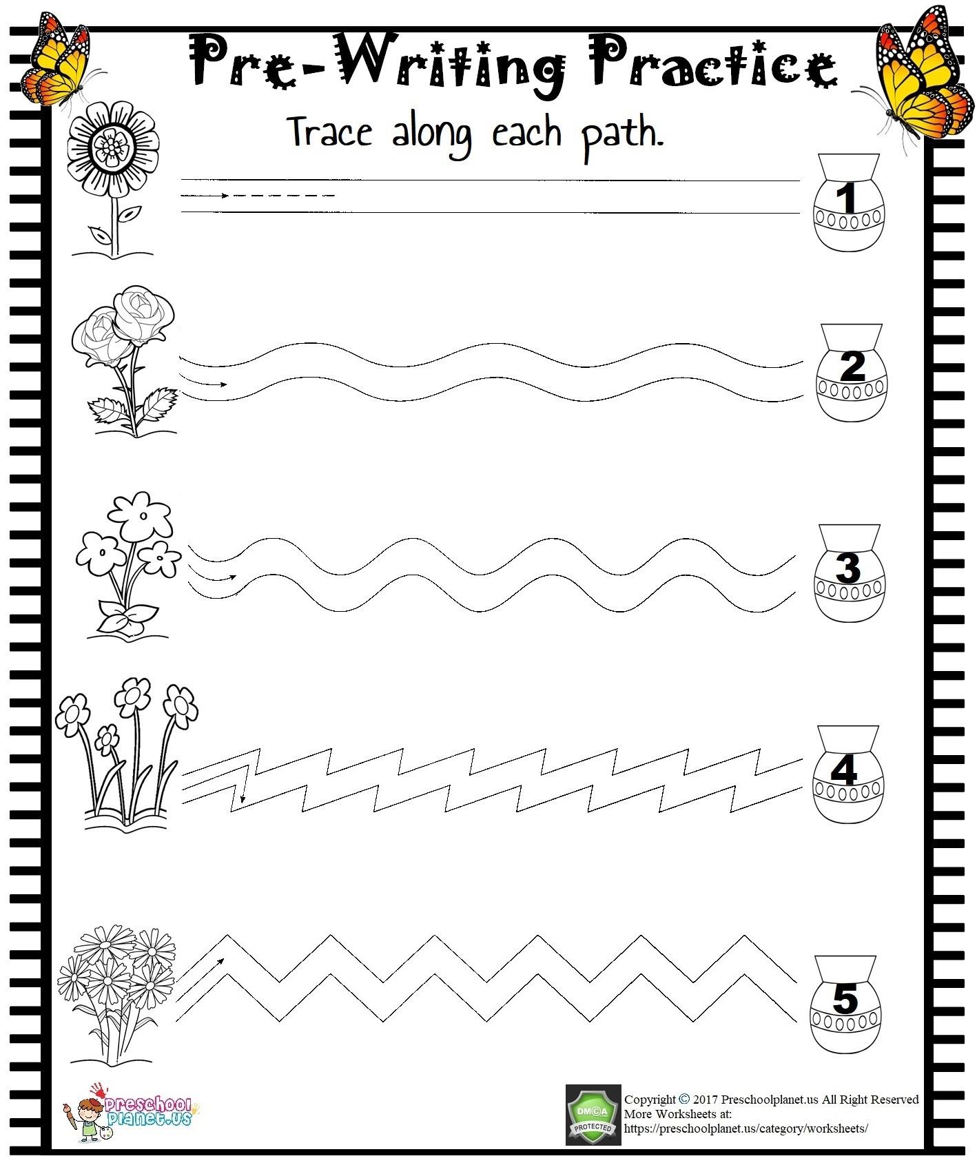 Pre-Writing Practice Worksheet