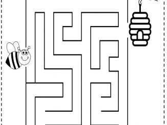 Spring Maze Worksheet For Kids