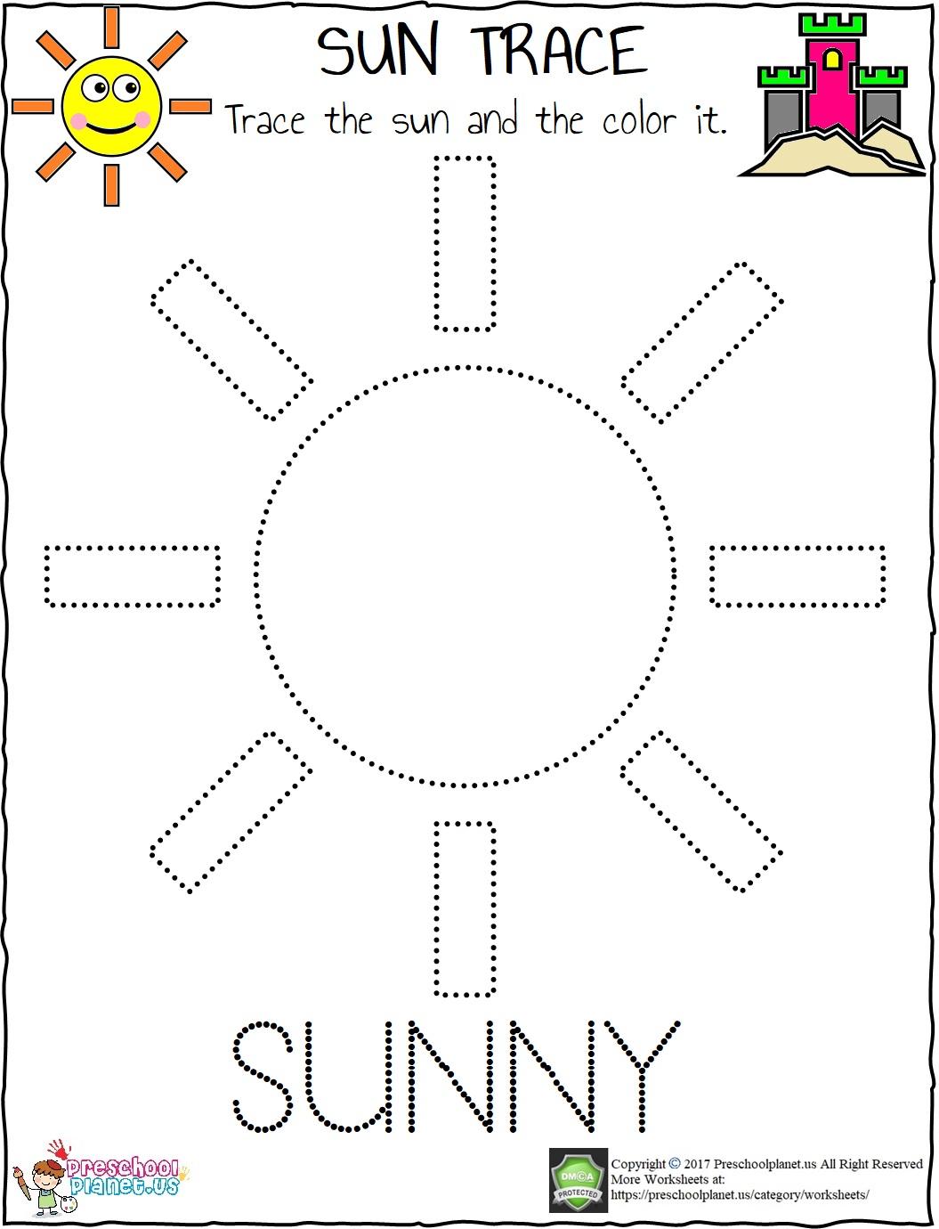 Sun Trace Worksheet