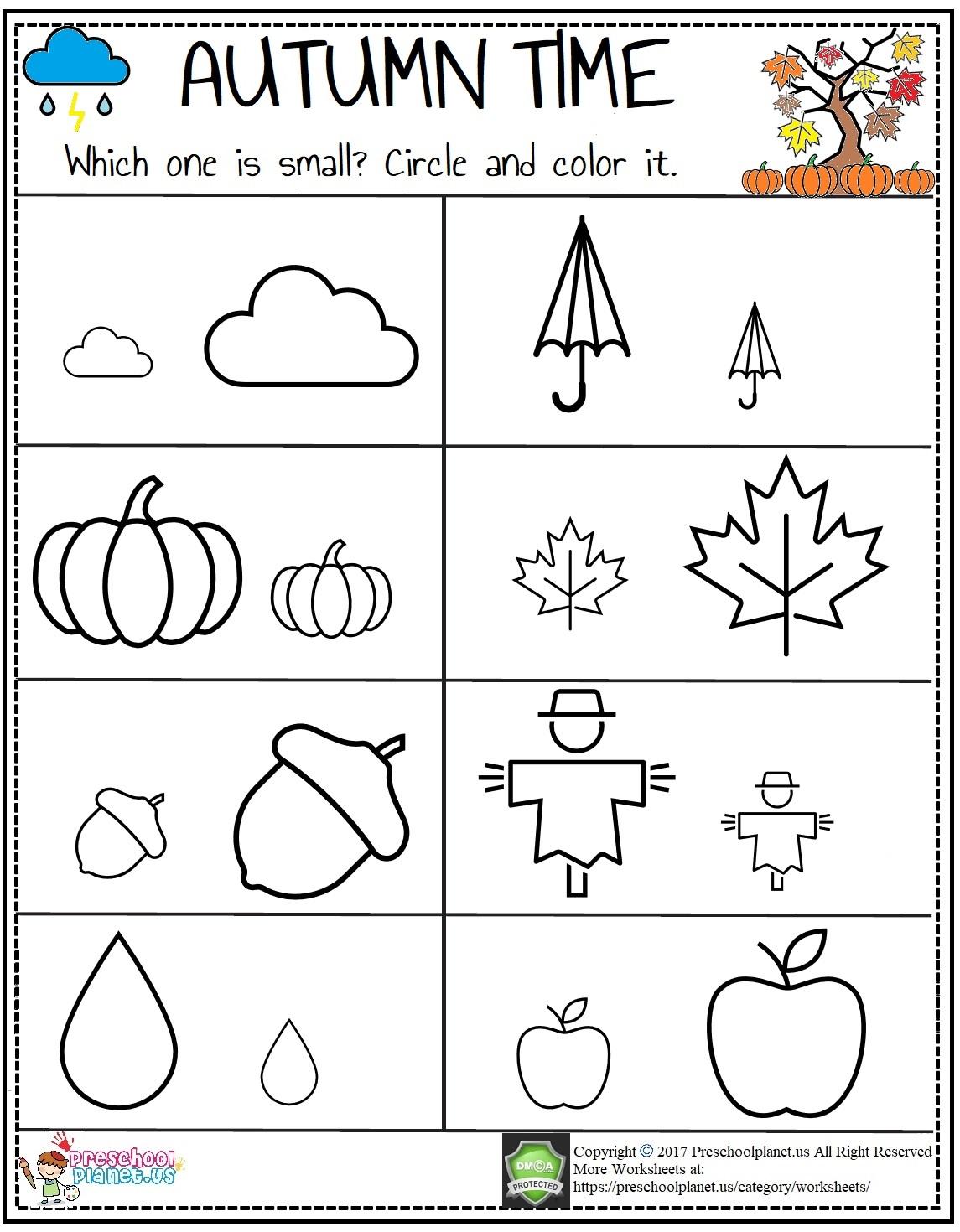 autumn worksheet