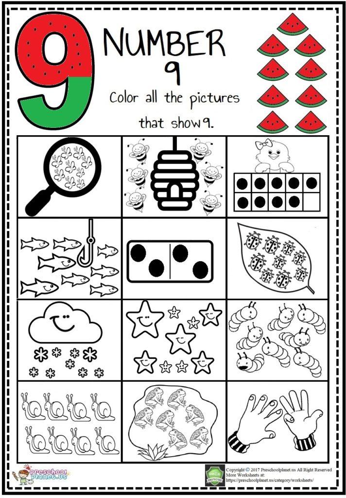 number 9 worksheet